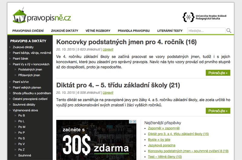 Starý design Pravopisně.cz